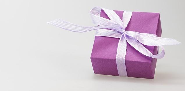 Taufgeschenk violett